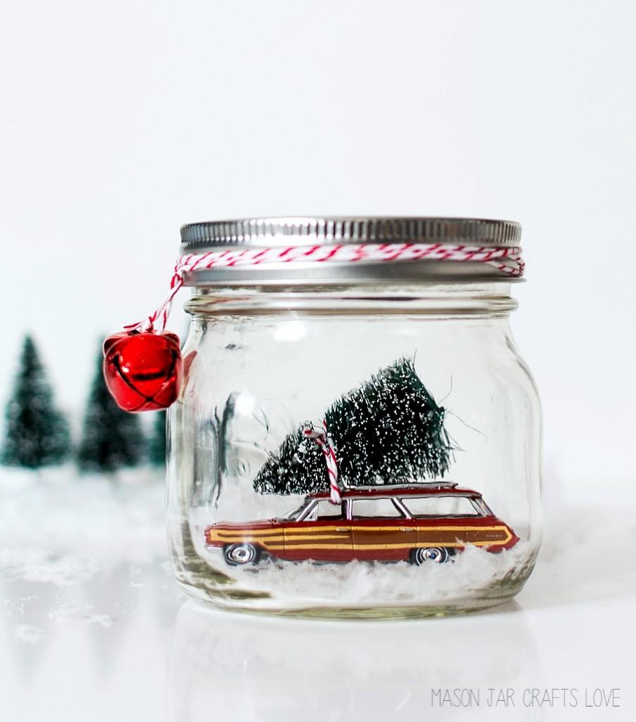 Mason Jar Crafts Love: Car In Jar Snow Globe