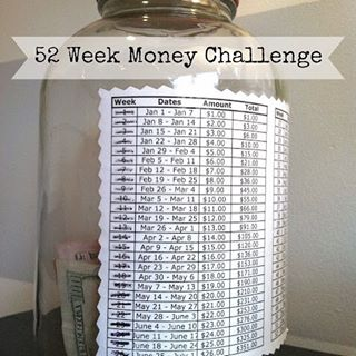 52 week incremental money challenge 52weekmoneychallenge masonjarcraftslove
