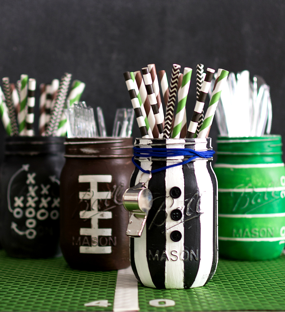 Referee Mason Jar - Painted & Distressed Mason Jar Craft