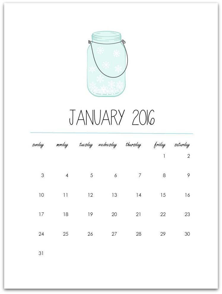 graphic relating to Free Printable Mason Jars named Totally free Printable: Mason Jar Calendar - Mason Jar Crafts Enjoy
