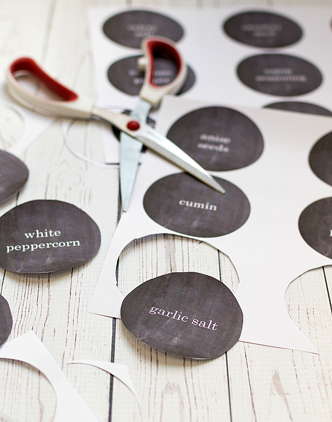 Spice Jar Labels - Free Printables