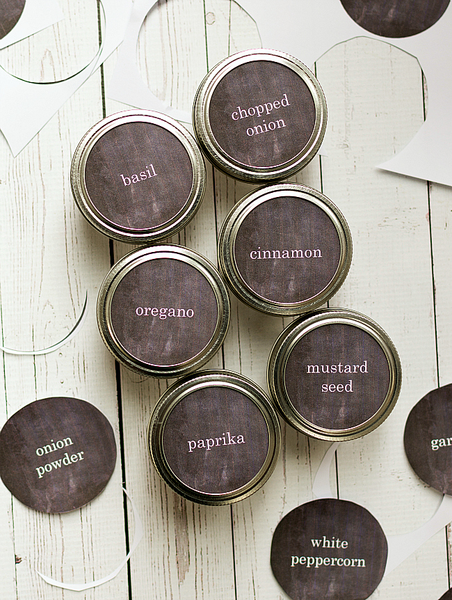 Mason Jar Craft Ideas: Free Printables for Mason Jar Spice Jars