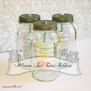 Mason Jar Baker's Twine Holders
