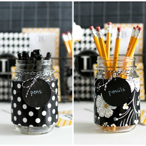 Mason Jar Crafts: Desk Organizers
