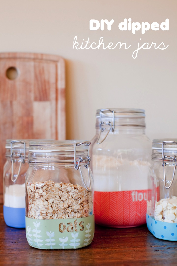 Custom kitchen jars mason jar crafts love for Kitchen jar ideas