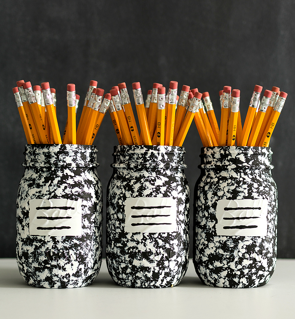 Composition Book Mason Jars