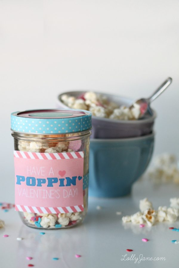 White Chocolate Popcorn in Mason Jar - Valentine Gift for Her - Valentine's Day Gift Ideas in Mason Jars
