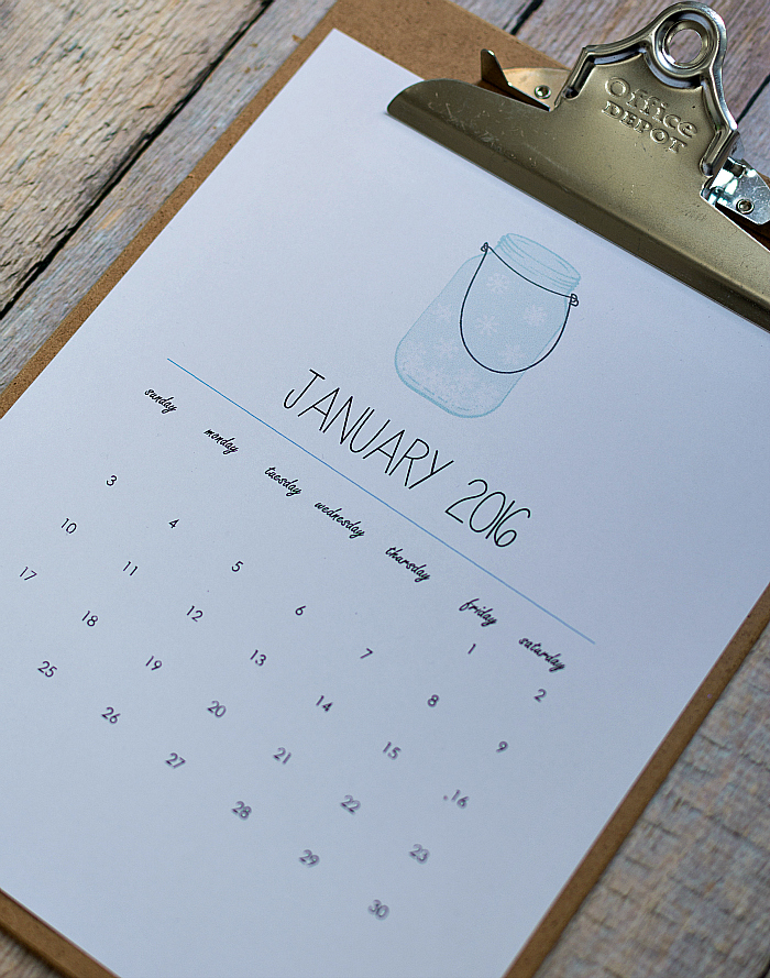 Mason Jar Craft ideas Free Printable Mason Jar Calendar Page