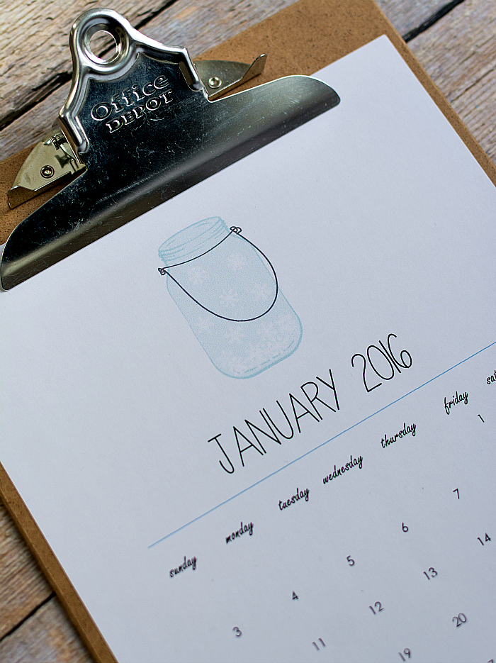Mason Jar Craft Ideas Calendar