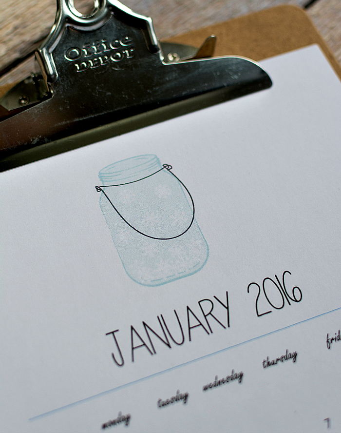 Mason Jar Craft Ideas Free Calendar Printable