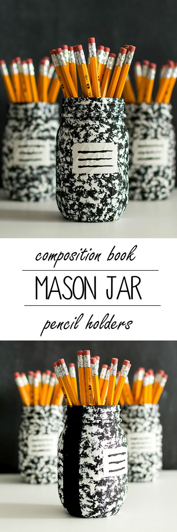 Jar Ideas - Composition Book Pen Pencil Holder Desk Organizer