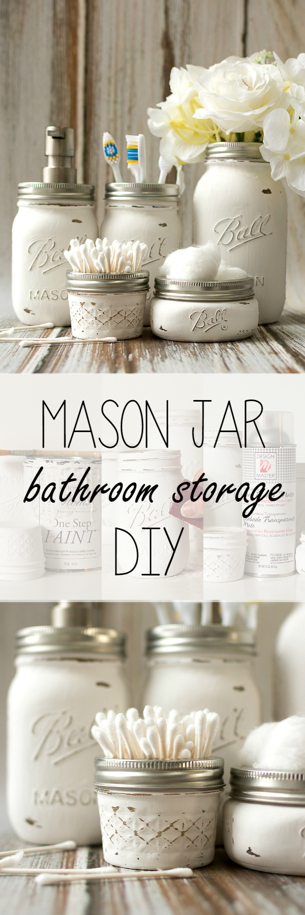 Bathroom Storage Jar Ideas : Mason jar bathroom storage accessories