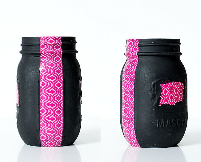 Mason Jar Craft Ideas - Pencil and Pen Holder for Teacher
