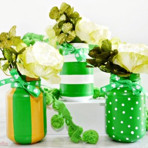 St. Patrick's Day Painted Mason Jars