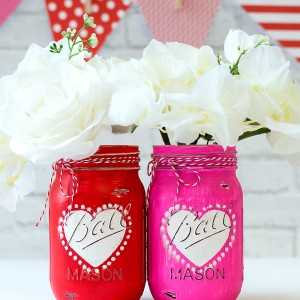 Mason Jar Craft Idea for Valentine's Day