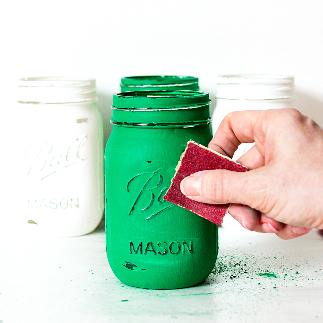 Painted Shamrock Mason Jars: Mason Jar Craft Ideas for St. Patrick's Day