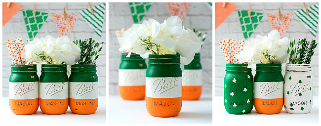 Irish Flag Craft Ideas - Mason Jar Crafts for St. Patrick's Day