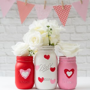 Valentine Day Mason Jar Craft