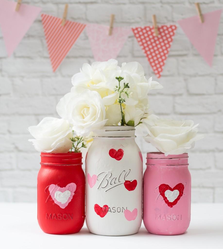 Mason Jar Crafts Love: Valentine Day Mason Jar Craft