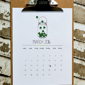March 2016 Free Printable Calendar Page