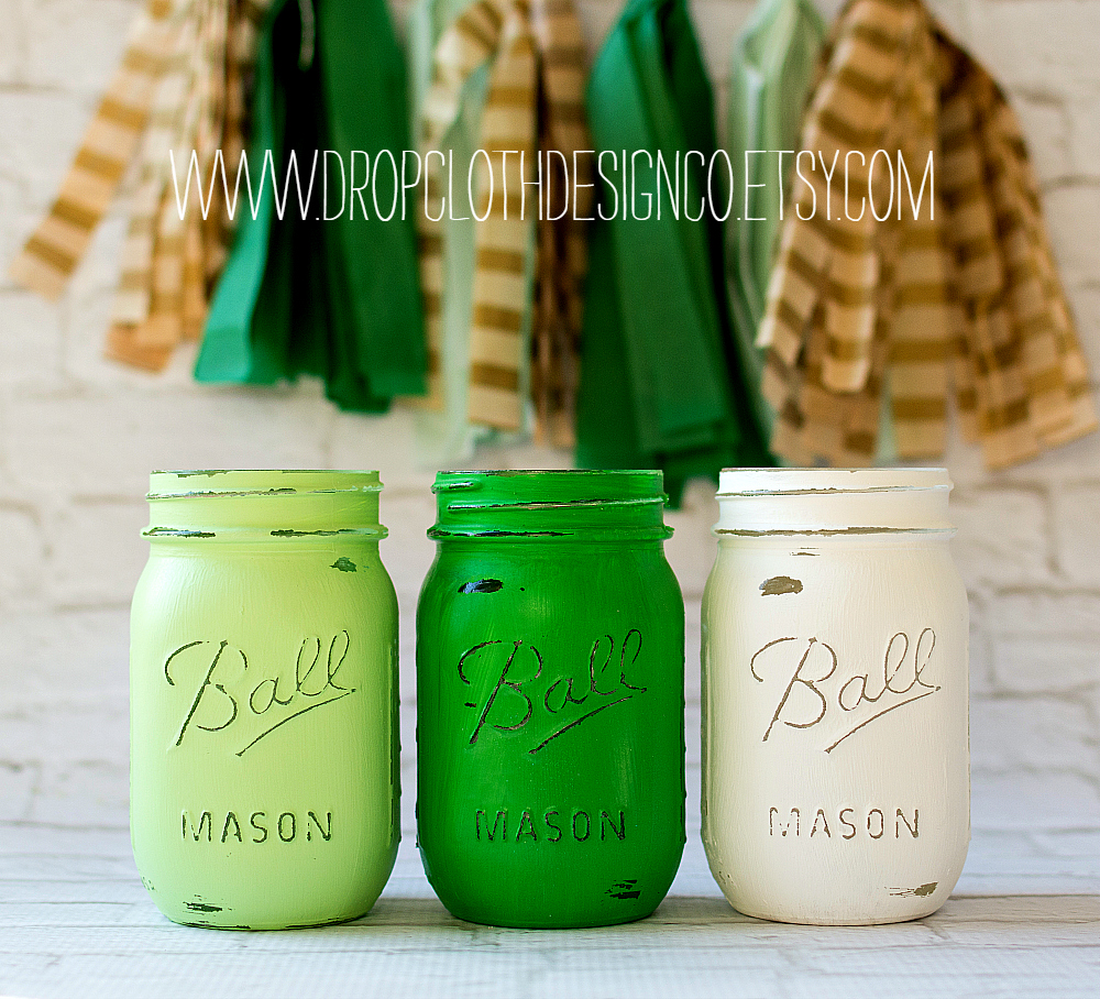 Mason Jar Crafts St. Patrick's Day
