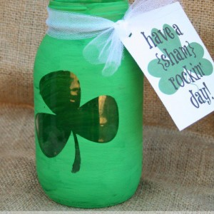 Shamrock Mason Jar for St. Patrick's Day