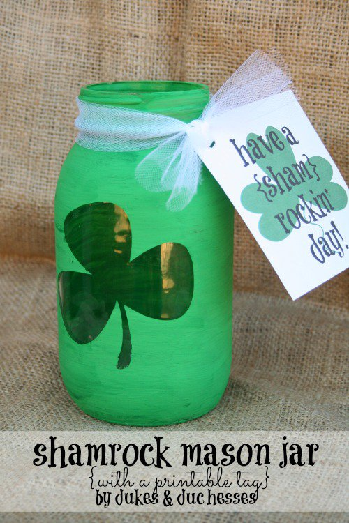 Mason Jar Craft Ideas for St. Patrick's Day