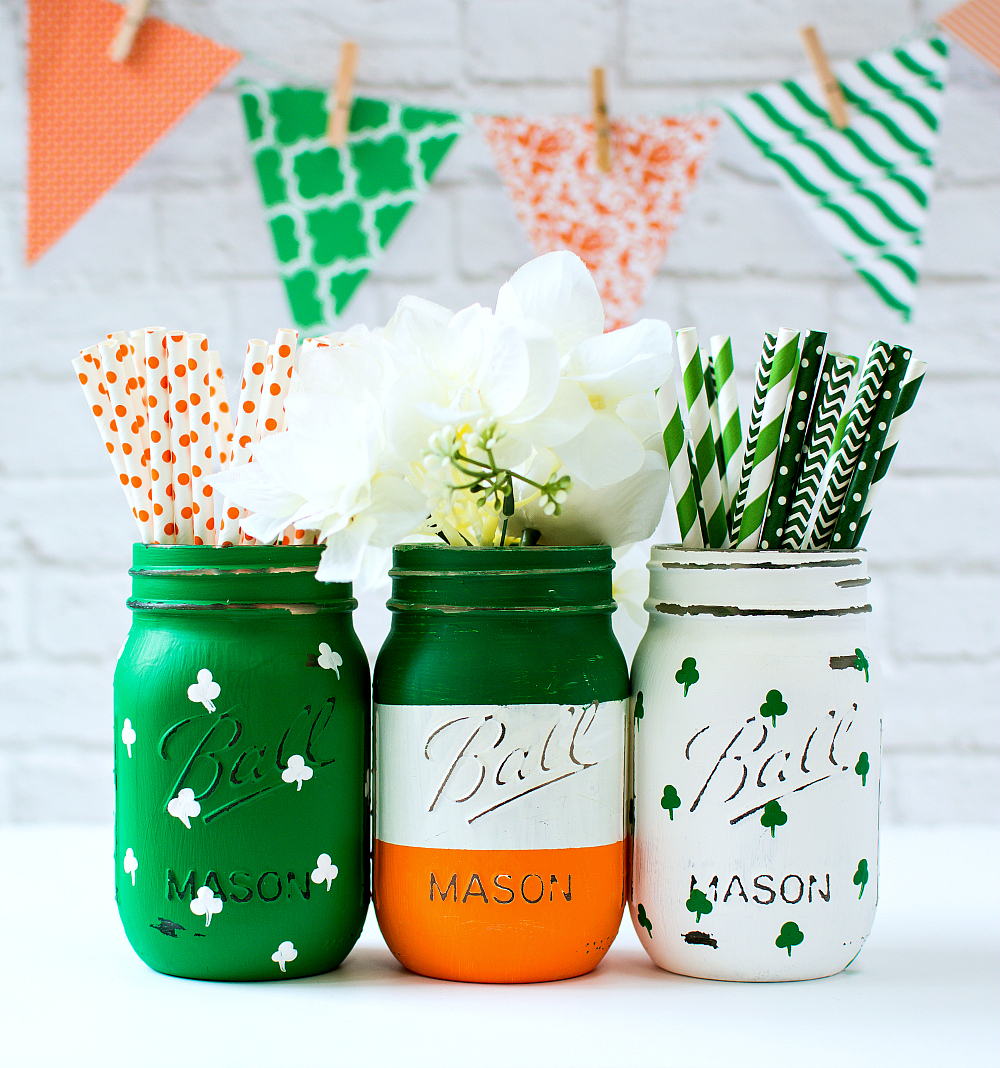 Mason Jar Crafts for St. Patrick's Day