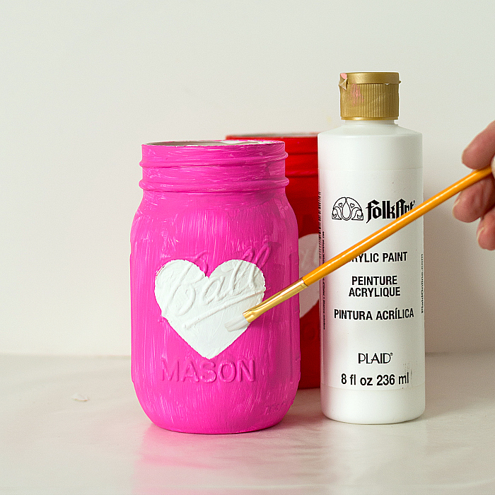 Mason Jar Craft - Heart Jar Craft