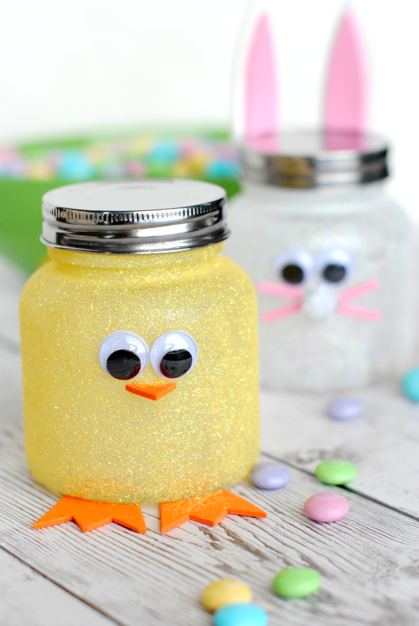 Mason Jar Easter Craft Ideas with jars