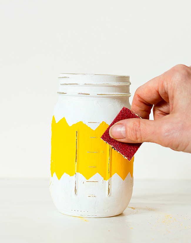 Painted Distressed Mason Jars for Easter
