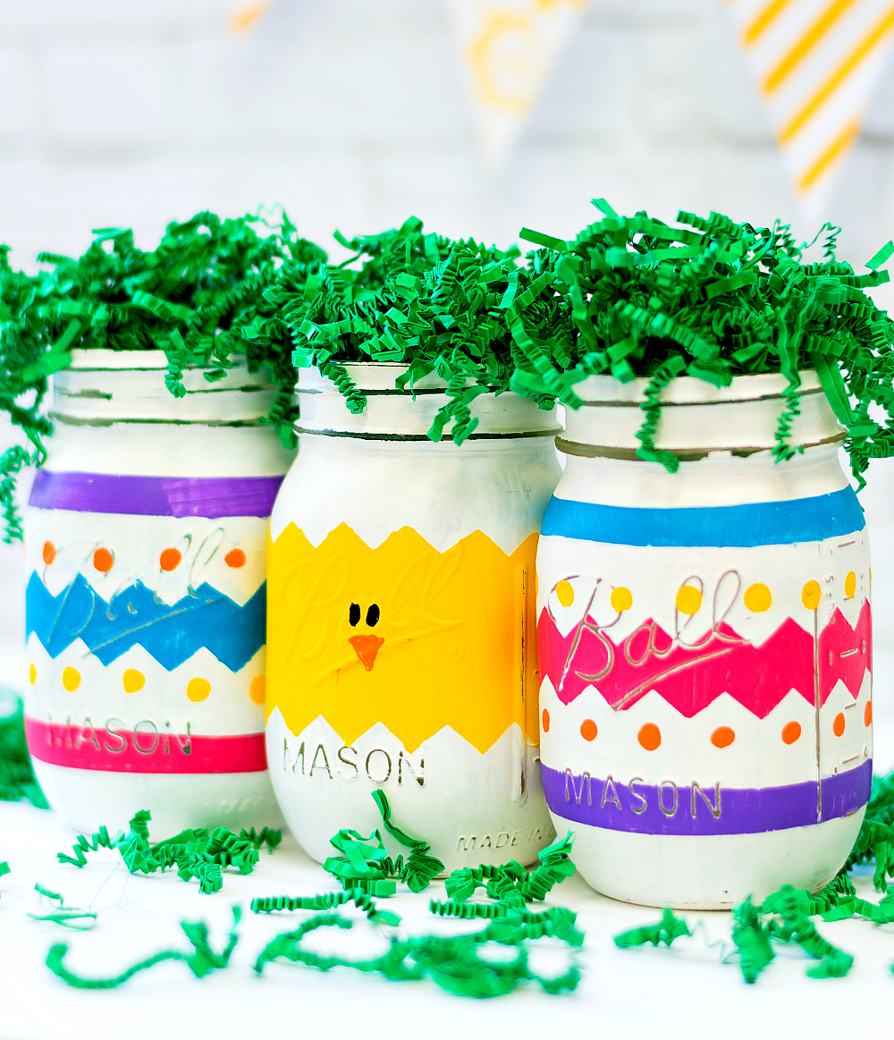 Easter Crafts - Peeps Mason Jars