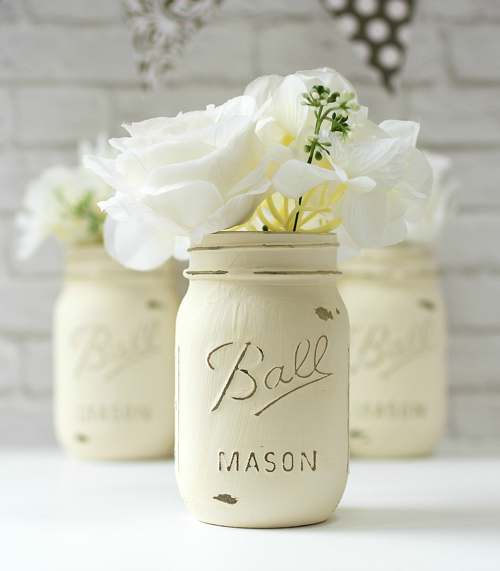 chalk paint mason jars Annie Sloan Chalk Paint Mason Jars   Mason Jar Crafts Love chalk paint mason jars