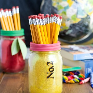 No. 2 Pencil Mason Jar Teacher Gift