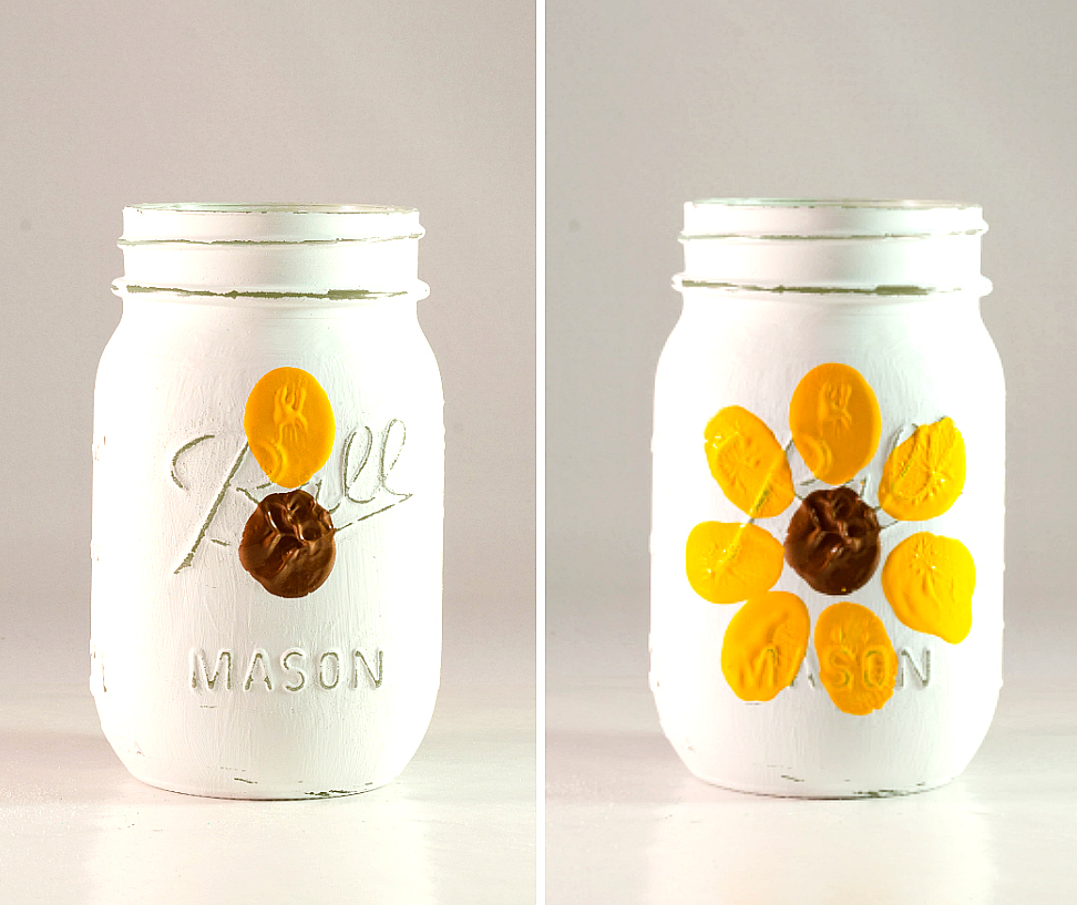 Jar Craft Ideas for Kids - Sunflower Mason Jar