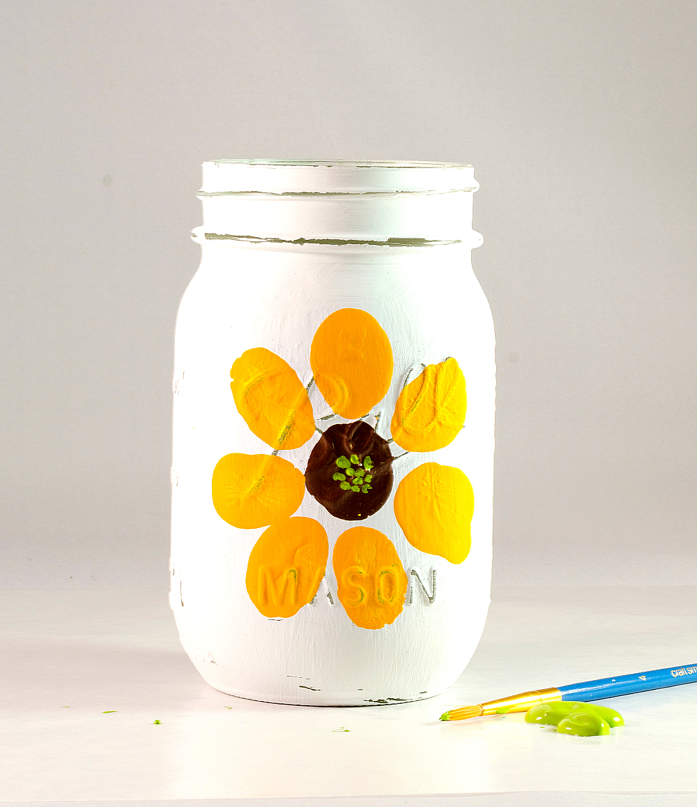 Mason Jar Craft Ideas for Kids - Paint Flowers