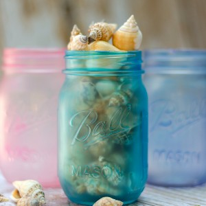 Sea Glass Mason Jars – Take 2