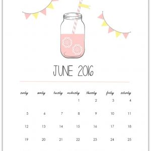 Mason Jar Calendar Page Download