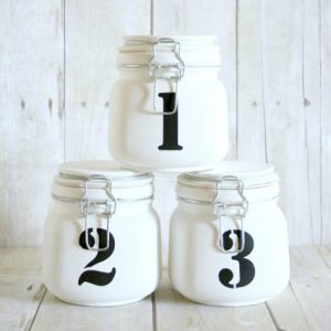 Numbered Mason Jars