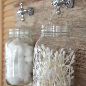 Mason Jar Craft Ideas for Bathroom Organization and Storage