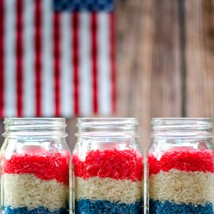 Fourth of July Mason Jar Votives