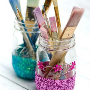 Glitter Mason Jar Craft