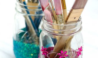 Glitter Mason Jar Craft