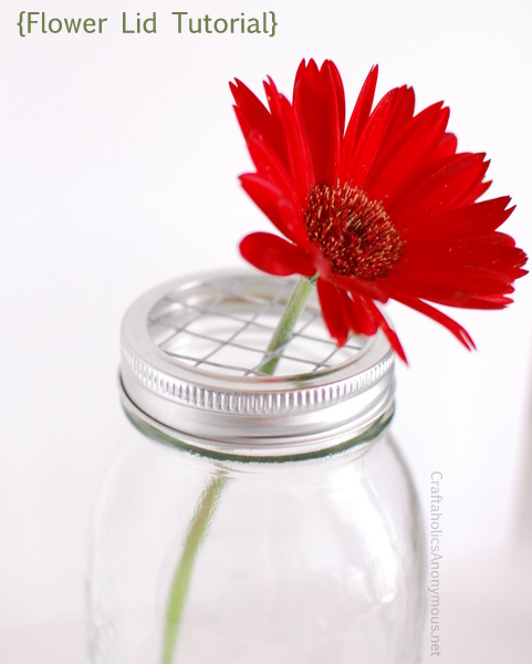 DIY Mason Jar Flower Frog