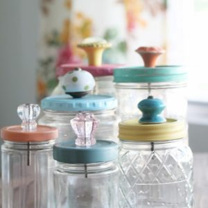 Mason Jar Craft Ideas - Storage and Organization for Bathroom with Mason Jars
