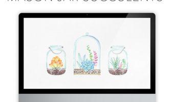 Mason Jar Wallpaper – FREE Downloads!