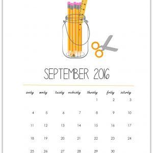 Free Calendar Page Printable 2016