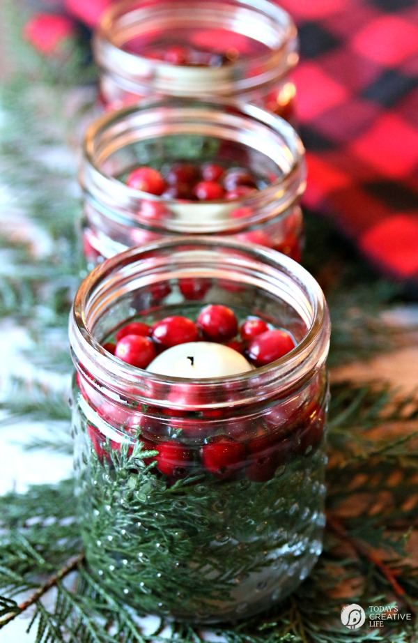 Mason Jar Christmas Luminaries