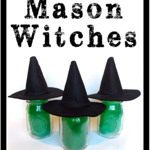 Mason Jar Witches with Hats