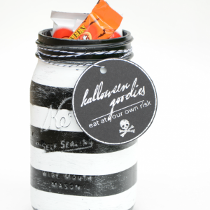 Black & White Halloween Mason Jars